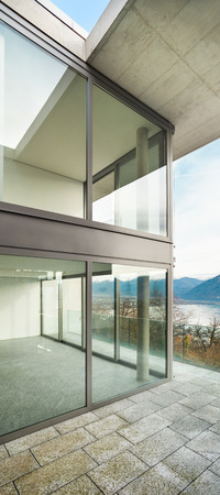 Architecture, modern building, view from the terrace photo