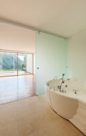 bathroom interior: Interior apartment, view bathroom