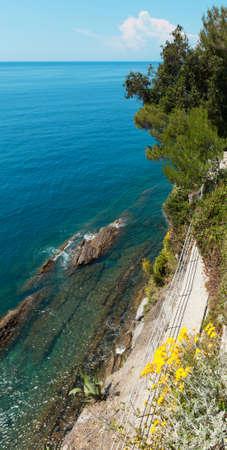 paisaje mediterraneo: hermoso paisaje del Mediterráneo, el mar y el cielo