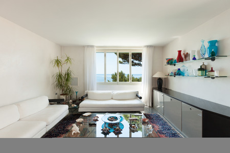 nice living: nice living room of a house by the sea Stock Photo