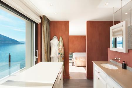 classic interior: Interior, beautiful modern apartment, comfortable bathroom
