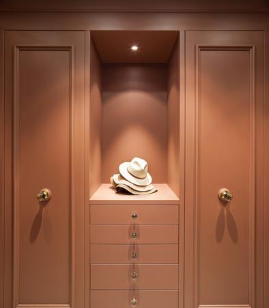 view an elegant wardrobe: Interior beautiful apartment, elegant wardrobe, front view