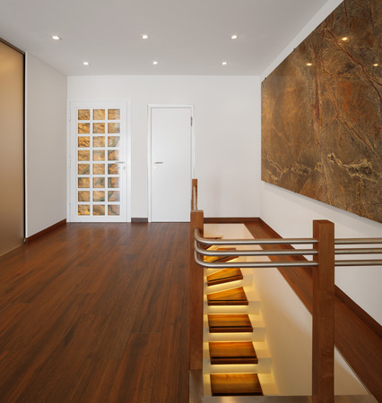 alight: Modern house, entry with alight staircase