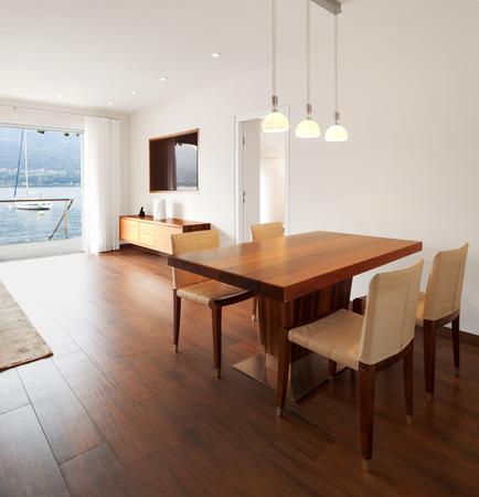 diningroom: Interior architecture, modern living room Stock Photo