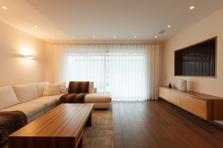 Interior architecture, modern living room 免版税图像