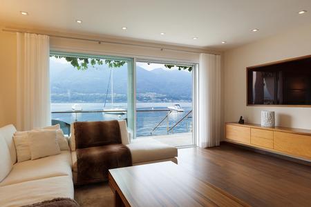 Interior architecture, modern living room Standard-Bild