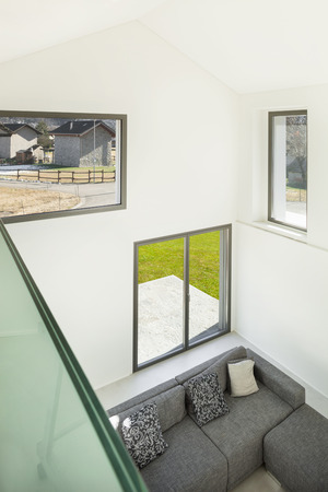 modern living: Architecture, interior of a modern house, living, top view