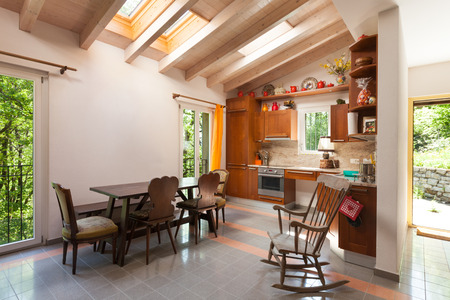 open country: interior of a country house, domestic kitchen