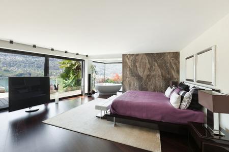 modern house beautiful interiors, wide bedroom