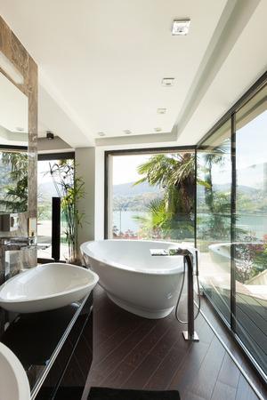bath room: modern house beautiful interiors, bathroom