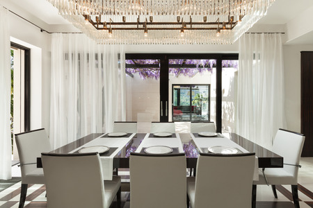 interior spaces: modern house beautiful interiors, dining room