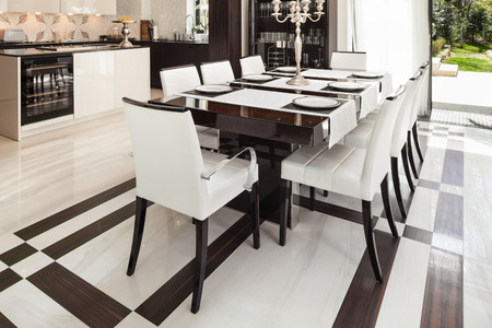 dining table and chairs: modern house interiors, dining room