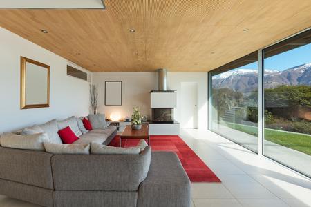 montagna casa interno, soggiorno