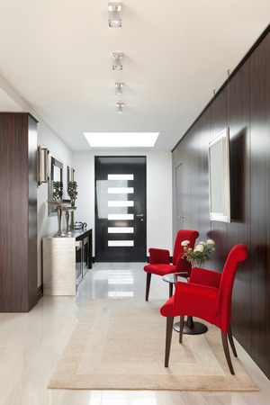 housing styles: architecture, modern house, beautiful interiors, hall