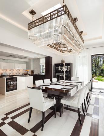 salle à manger de luxe banque d'images, vecteurs et illustrations