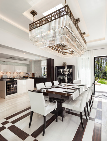 Architecture, Modern House, Beautiful Interiors, Dining Room Photo
