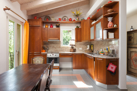 country kitchen: interior of a country house, domestic kitchen