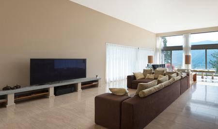 divan: Interior de una moderna sala de estar, sof� c�modo