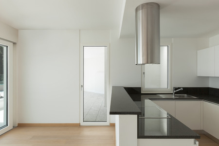 modern apartment: Interior, domestic kitchen of a modern apartment