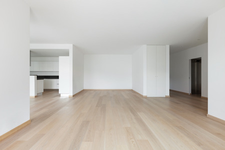 apartment living: Interior, empty living room of a modern apartment Stock Photo