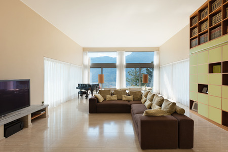 divan: Interior of a modern living room, comfortable divan