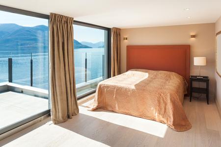 comfortable: Interior, beautiful modern penthouse, comfortable bedroom