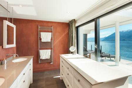 comfortable: Interior, beautiful modern apartment, comfortable bathroom
