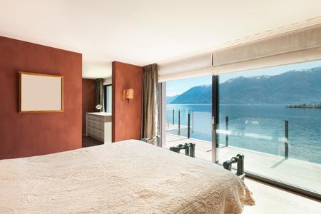 penthouse: Interior, beautiful modern penthouse, bedroom
