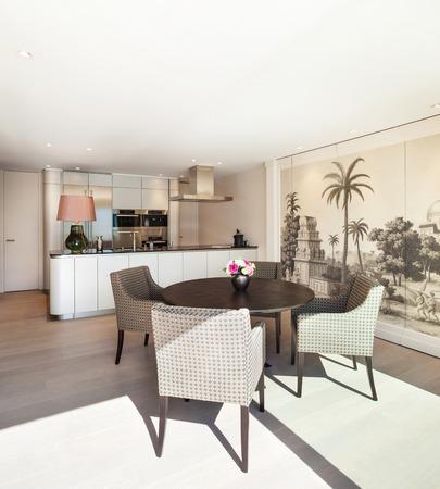 Interior Beautiful Apartment, Elegant Dining Room Stock Photo ...
