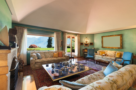 classic living room: Interior classic house, comfortable living room Stock Photo