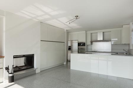 the white house: Architecture, interior of a modern house, white kitchen