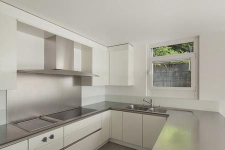cucina moderna: casa moderna, piano cottura di una cucina domestica Archivio Fotografico