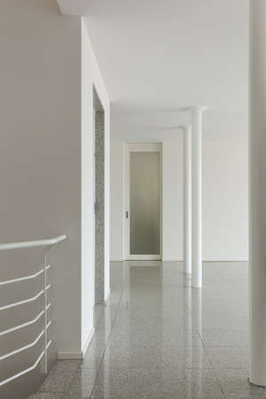 marble wall: Interior of modern building, detail wide hall Stock Photo