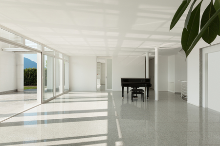 piano: Arquitectura, amplio sal�n con piano de cola, interior