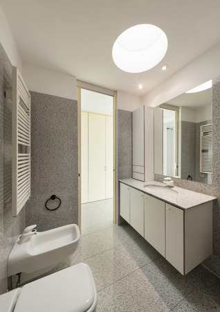 bathroom: Architecture, interior of a modern house, bathroom view Stock Photo