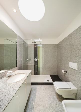 cuarto de ba�o: Arquitectura, interior de una casa moderna, ba�o vista Foto de archivo
