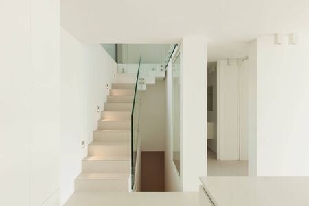 white view: Architecture, new trend design, staircase of modern house