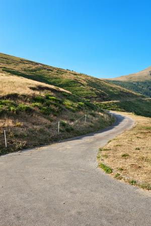 mountain landscape: Swiss mountain landscape, road through pastures