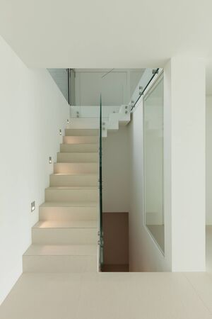 concrete steps: Architecture, new trend design, staircase of modern house