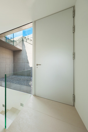 modern architecture: Architecture, new trend design, entrance of a modern house
