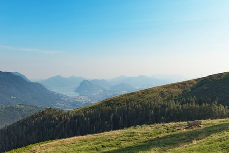 baro: Swiss mountain landscape, wide panoramic view