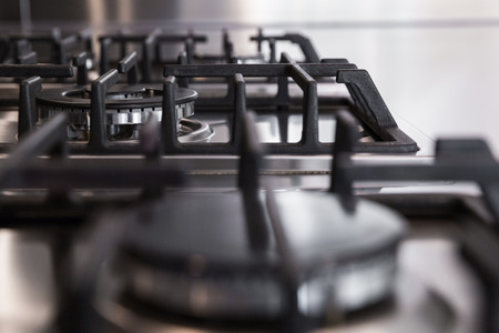 stovetop: detail of gas stoves, the concept of kitchen