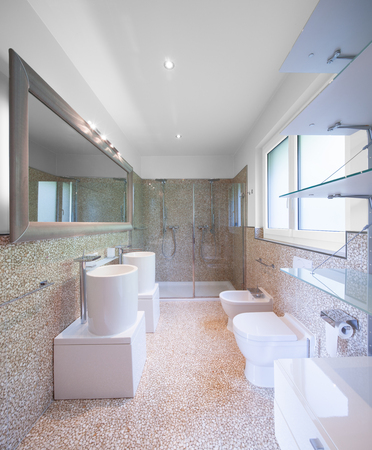 modern bathroom: Modern apartment, bathroom Stock Photo