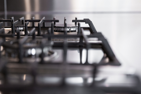 cooktop: detail of gas stoves, the concept of kitchen