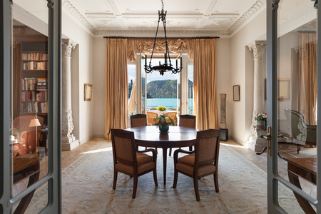 classical Interiors, luxury living room in a period mansion 스톡 콘텐츠