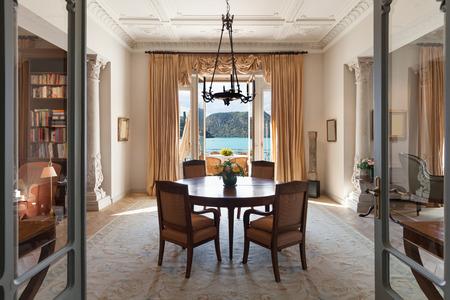 classical Interiors, luxury living room in a period mansion Archivio Fotografico