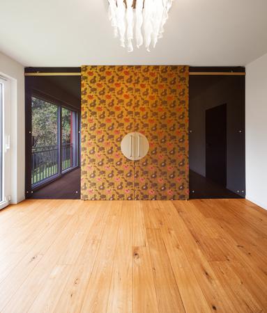 indoor inside: Interior of modern apartment, wardrobe room