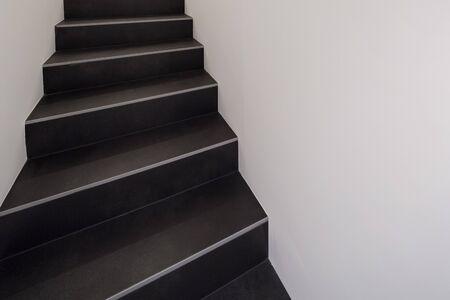 staircase: Interior of a modern apartment, black staircase