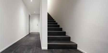 viviendas: Arquitectura, entrada moderna, con la caja de la escalera interior negro
