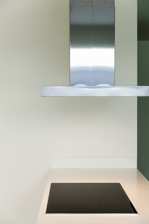 hob: Interior of modern kitchen with induction hob, detail